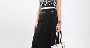صورة فستان اسود طويل , تالقى بفستان ماكسى اسود لمختلف المناسبات
