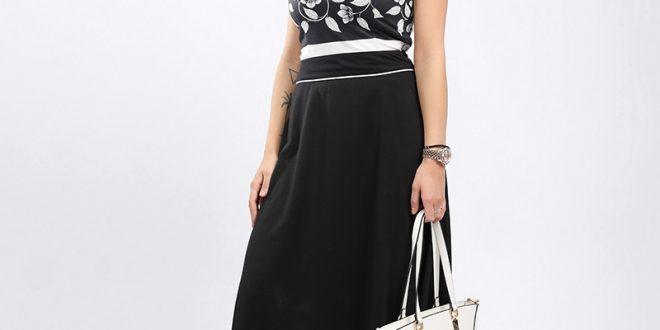 صور فستان اسود طويل , تالقى بفستان ماكسى اسود لمختلف المناسبات