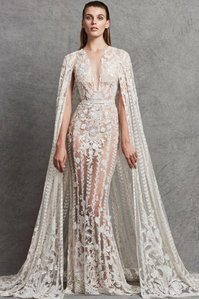 صورة فساتين سهرة دانتيل , اشيك موديلات لفساتين المساء والسهرة 2219 4