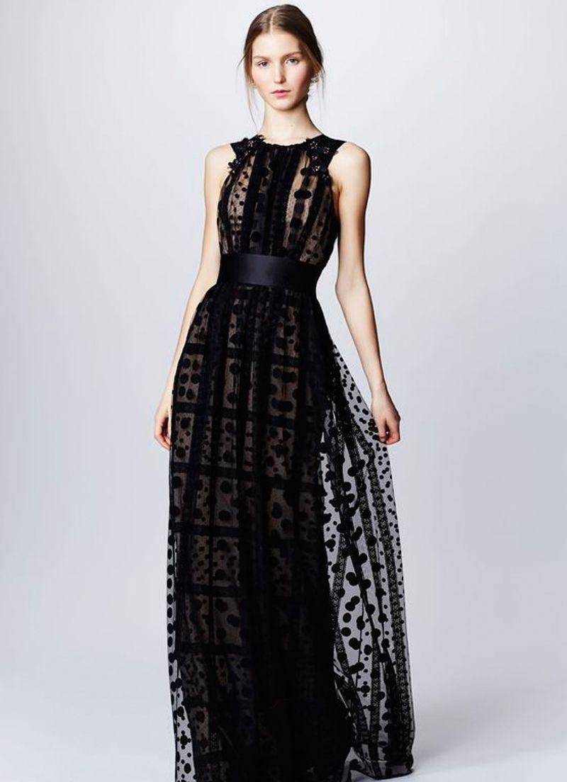 صورة فساتين سهرة دانتيل , اشيك موديلات لفساتين المساء والسهرة 2219 6