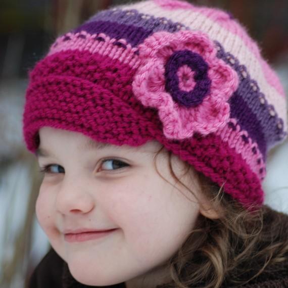 صورة قبعات بالكروشيه للبنات , صور طواقى كروشية للبنات الكيوت الكبار والصغار