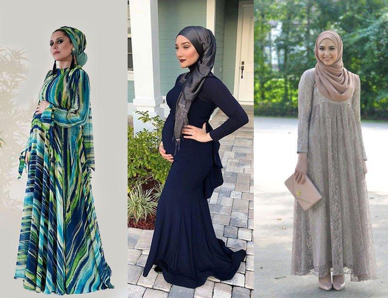 صورة ملابس محجبات حوامل , استيلات ملابس محجبات للحوامل 2019 3884 4