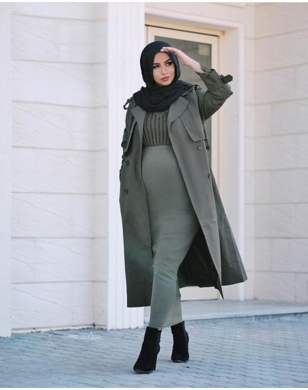 صورة ملابس محجبات حوامل , استيلات ملابس محجبات للحوامل 2019 3884 6