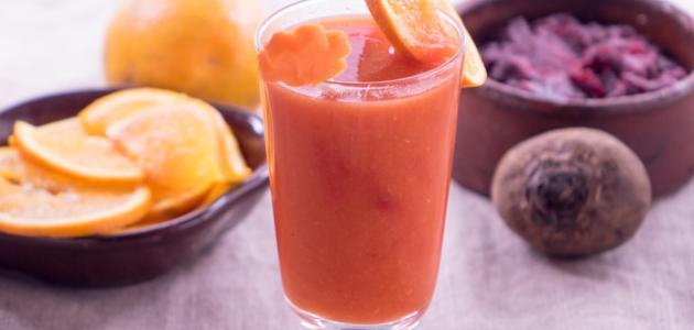 صور طريقة عصير الشمندر والبرتقال , طريقه عمل كوكتيل البرتقال و الشمندر