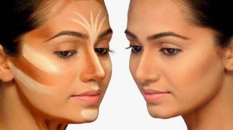 صور طريقة الكونتور للوجه , كيفيه نحت الوجه بالكنتور