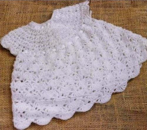 صورة كروشية فستان بيبي , كيفيه عمل فستان بالكروشيه