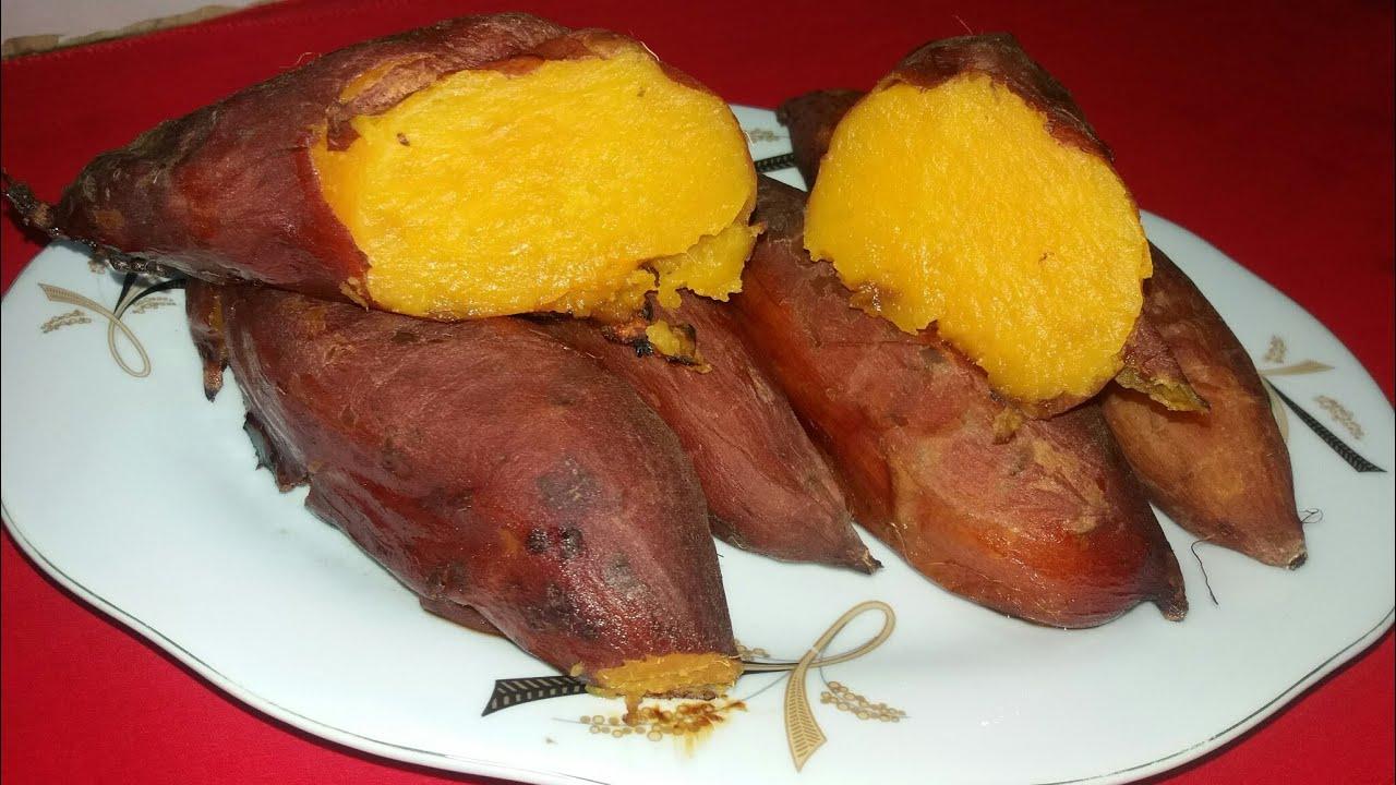 صورة طريقة شوي البطاطا الحلوة بالفرن , ازاي بتعملي البطاطا المشويه