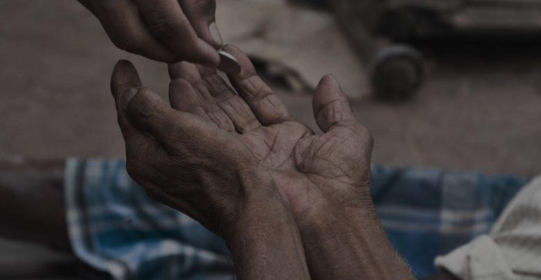 صور ظاهرة التسول , يتسول بسبب الفقر