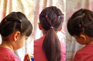 صورة تسريحات شعر للمدرسة , فورم شعر بسيطة وسهلة لبنات المدارس