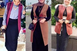 صورة ملابس محجبات شتاء 2019 , موديلات لبس شتوي
