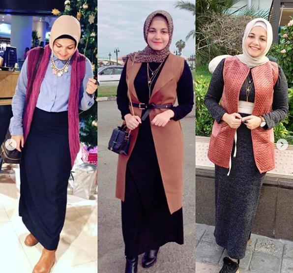صور ملابس محجبات شتاء 2019 , موديلات لبس شتوي