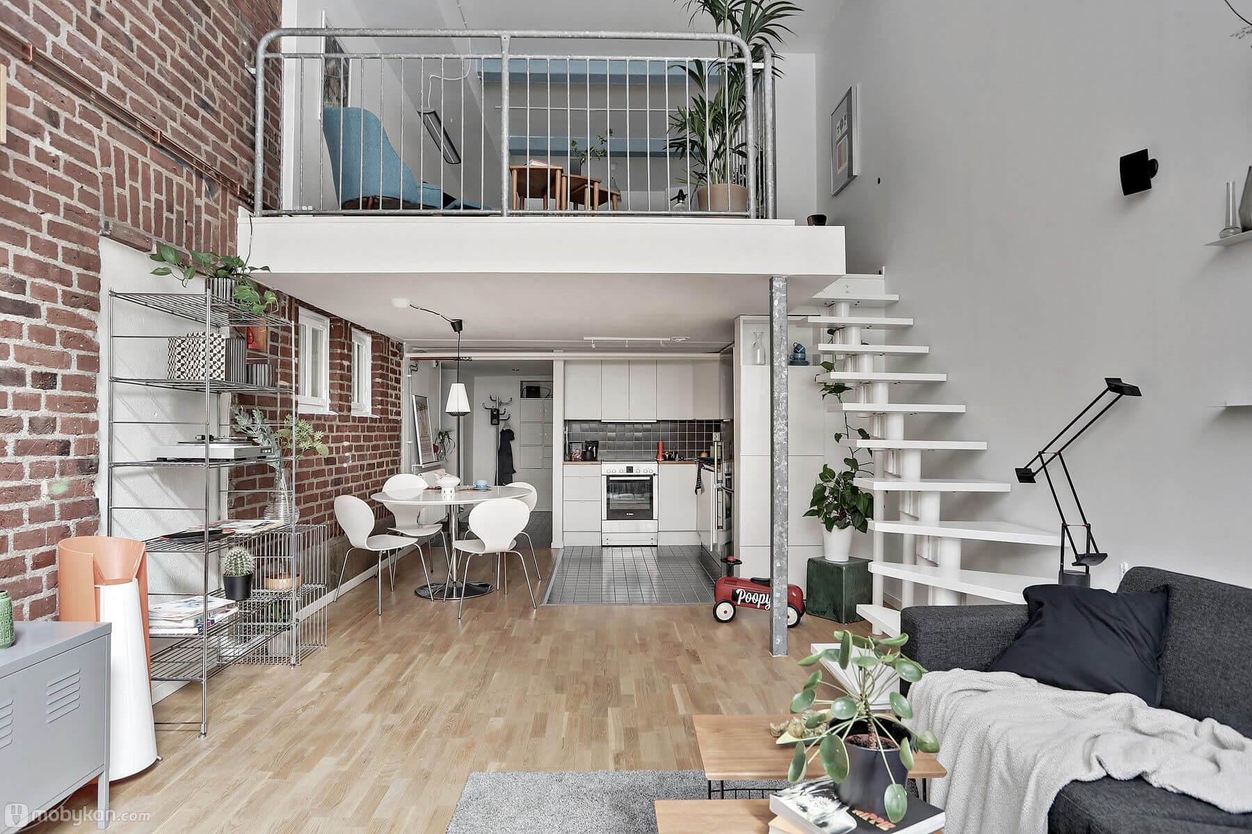 صورة تصميم شقة دورين مساحة صغيرة , تصميم دوبليكس جميل