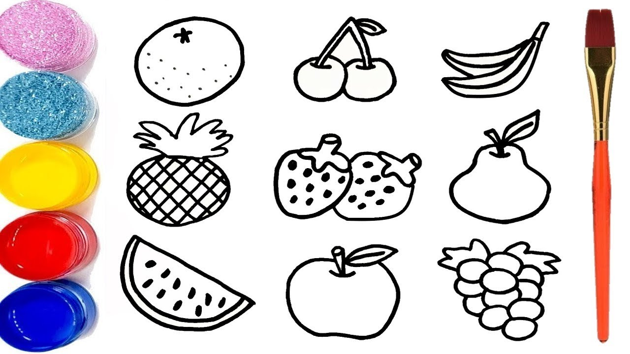 صور رسم فواكه للاطفال , تلوين ورسم الفواكهه