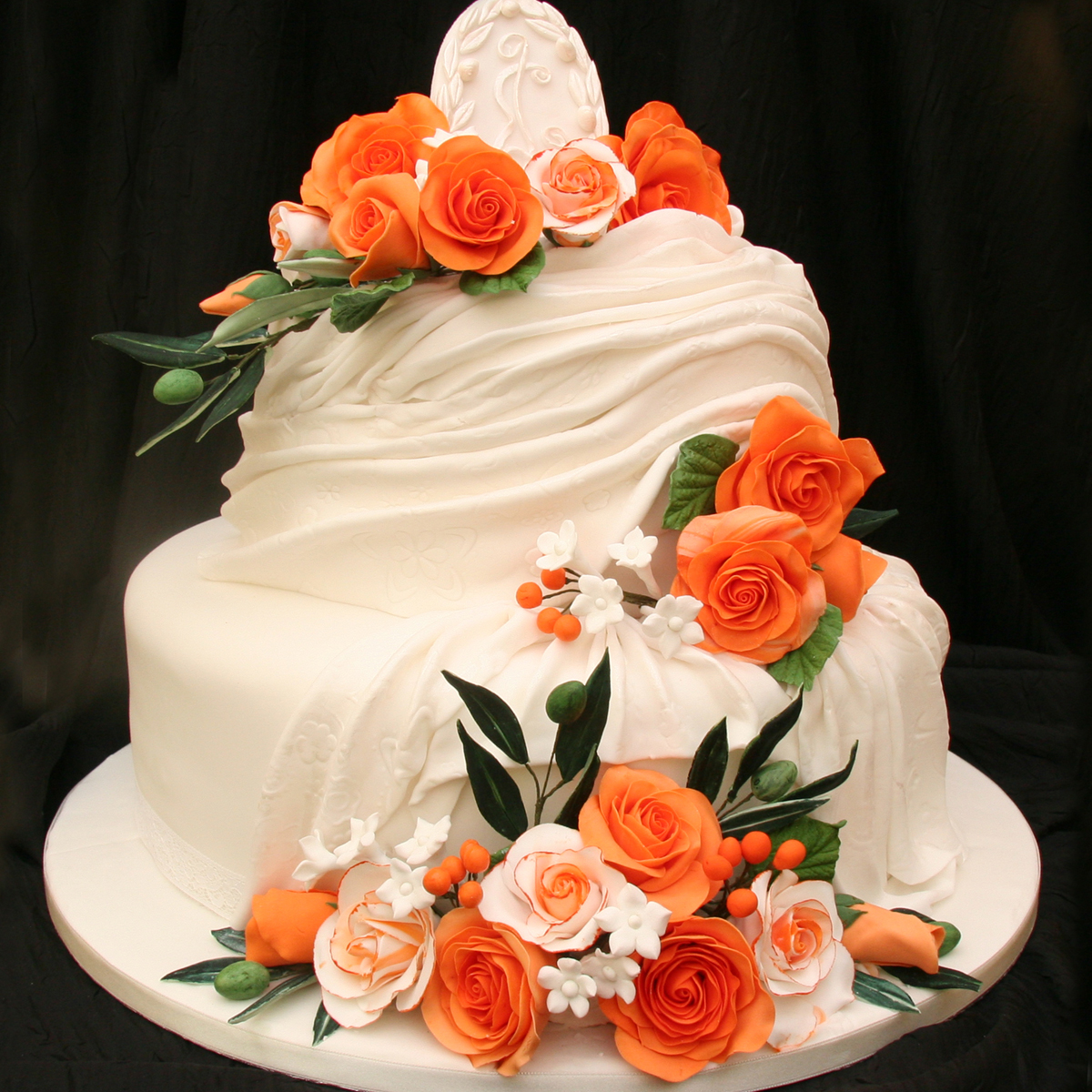صورة صور تورتة زفاف , اشكال توته لزفاف رائعه 4262 7