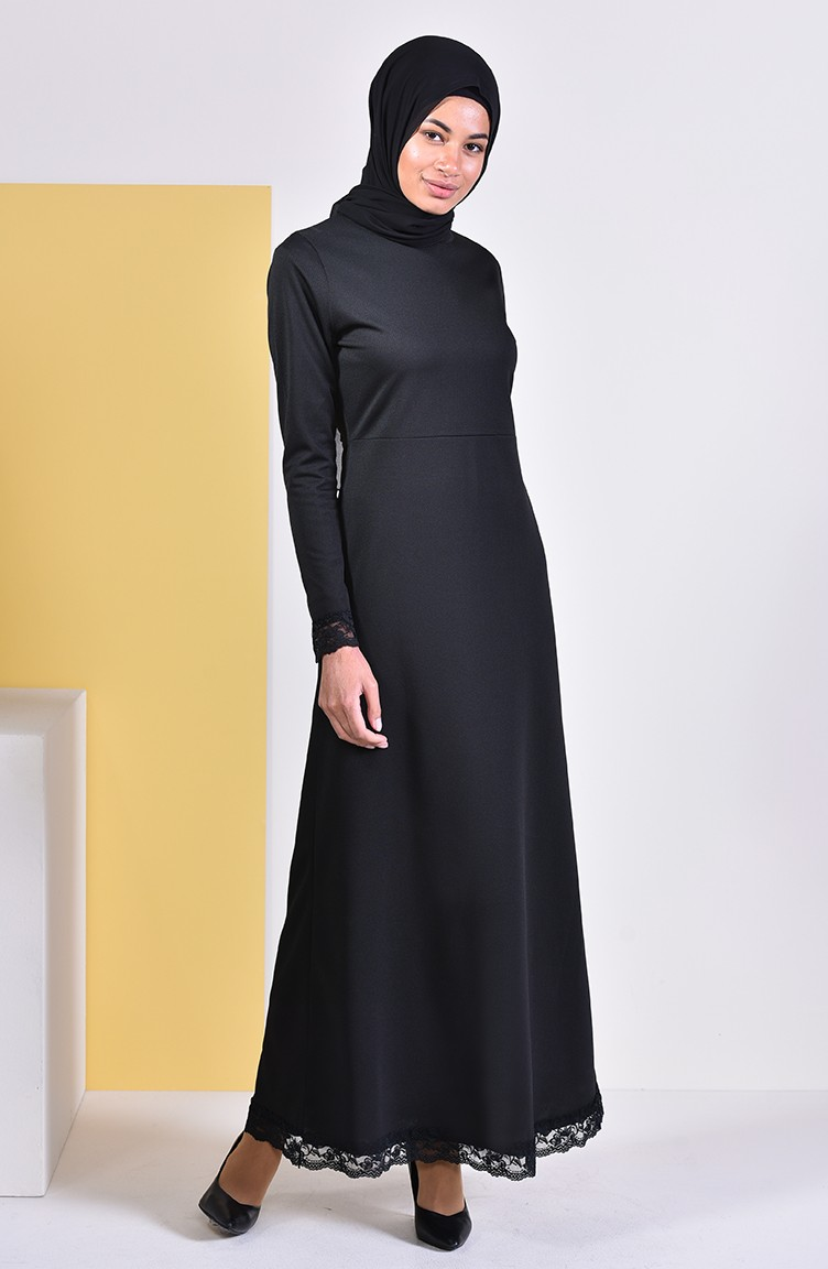 صورة فستان اسود دانتيل , فساتين سهره سوداء استايل 4532 4