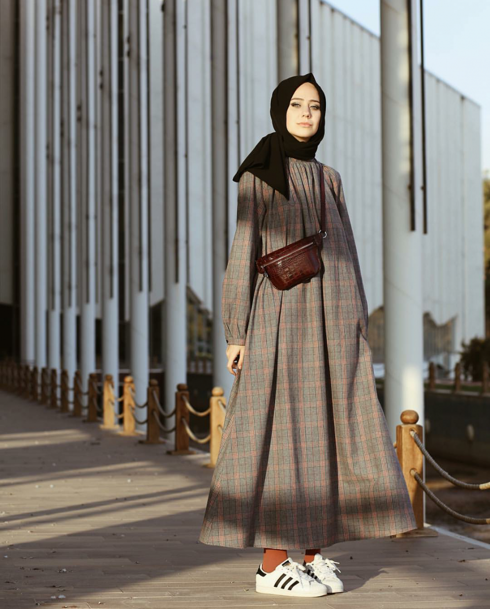 صورة احدث موضة محجبات 2019 , ازياء ملابس محجبات لصيف 2019 4555 1