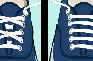 صور كيف تربط الحذاء , طرق ربط الحذاء المختلفه