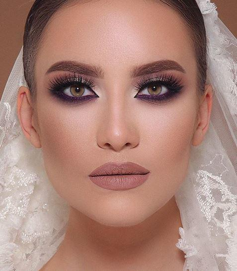 صور مكياج عروس فخم , كونى نجمة يوم زفافك بهذا الميك اب الطبيعى