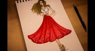 صور تعلم رسم بنت , كيفيه رسم البنت بالخطوات