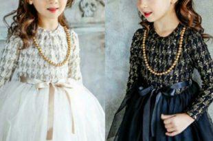 صورة فساتين اطفال شتوى , ملابس شتويه للاطفال