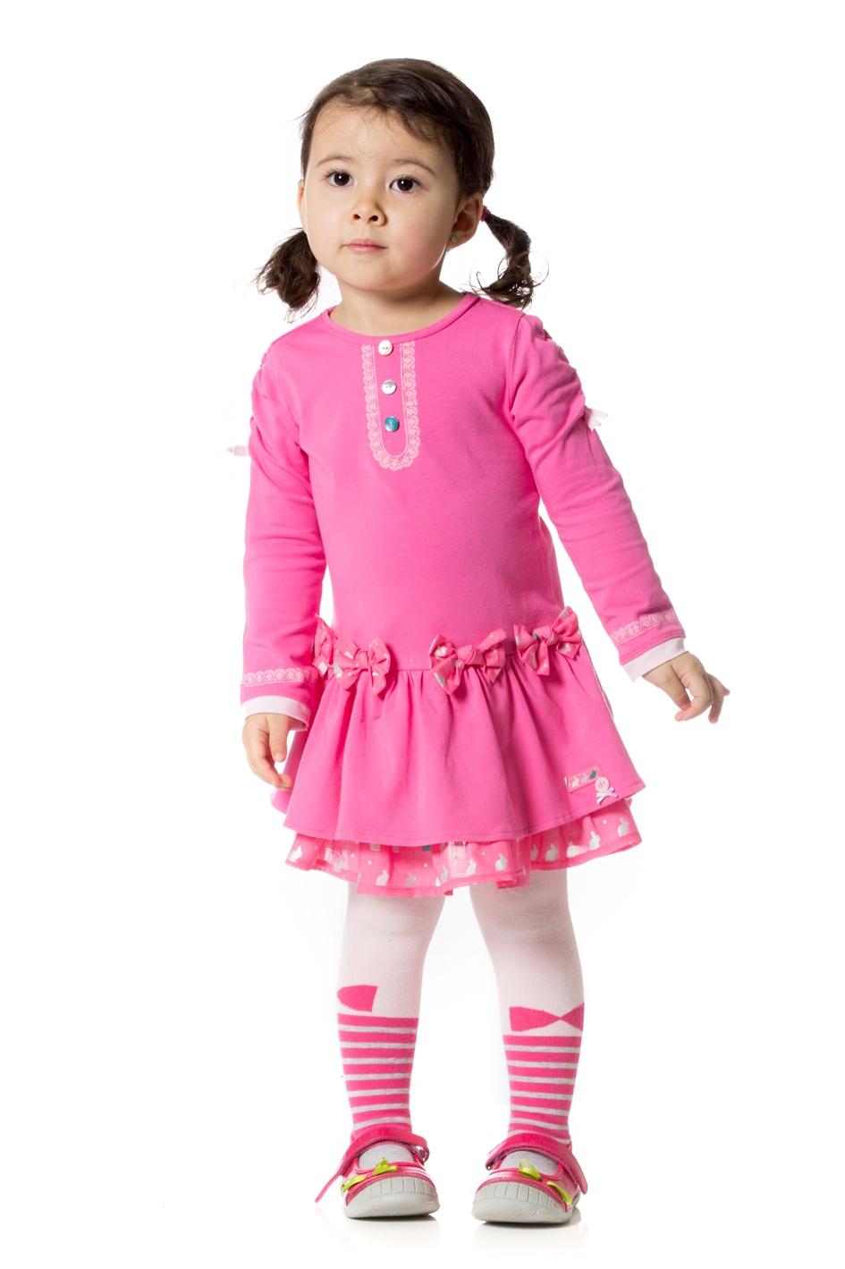 صورة فساتين اطفال شتوى , ملابس شتويه للاطفال 4535 2