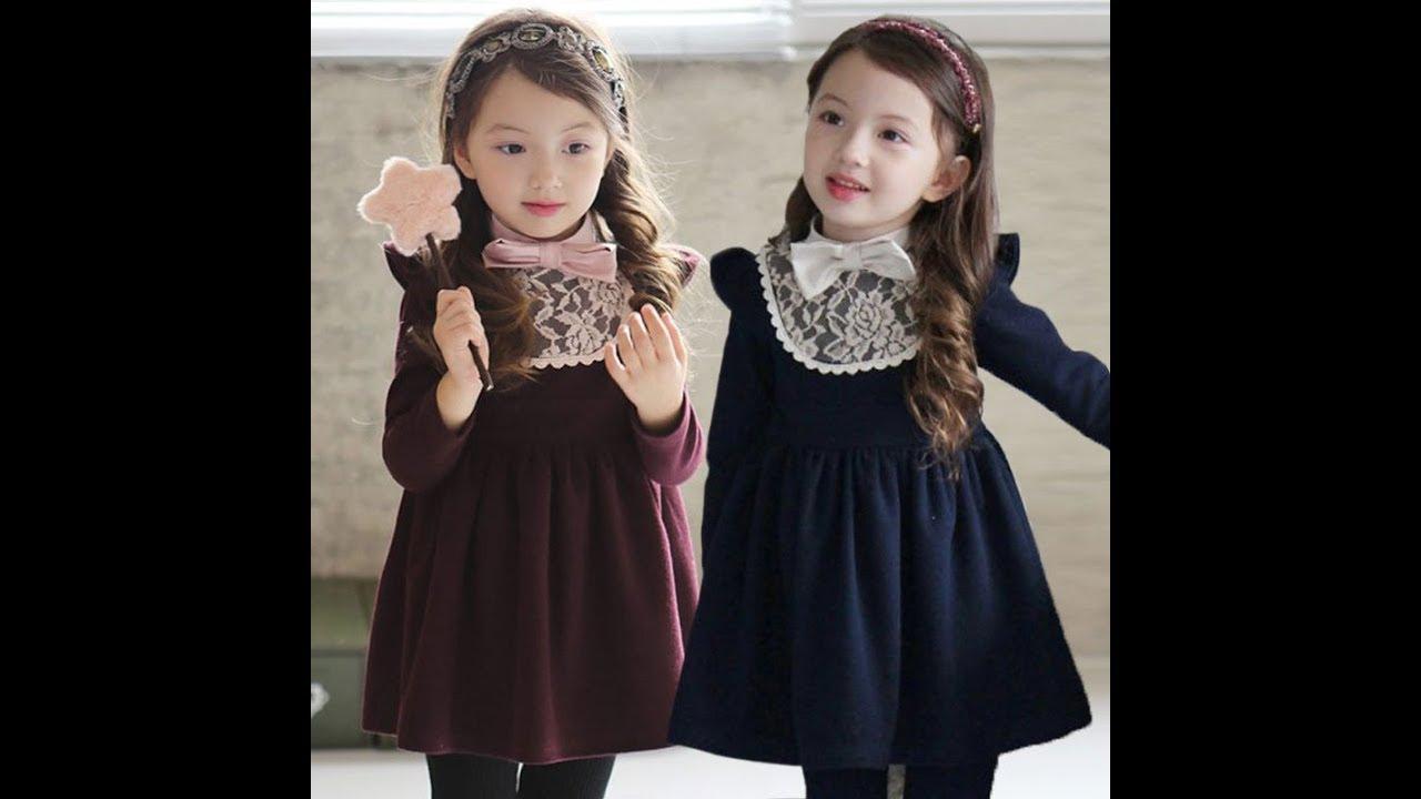 صورة فساتين اطفال شتوى , ملابس شتويه للاطفال 4535 5