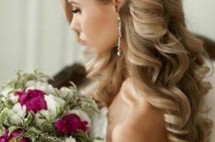صورة تسريحات زواج للشعر الطويل , كونى ملكة يوم زفافك بهذة التسريحة الجميلة