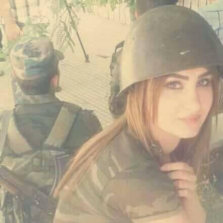 صورة صور بنات الجيش , بوستات لفتيات بالملابس العسكرية