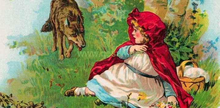 صورة قصة ليلى والذئب مختصرة , من اروع قصص الاطفال ذات الرداء الاحمر