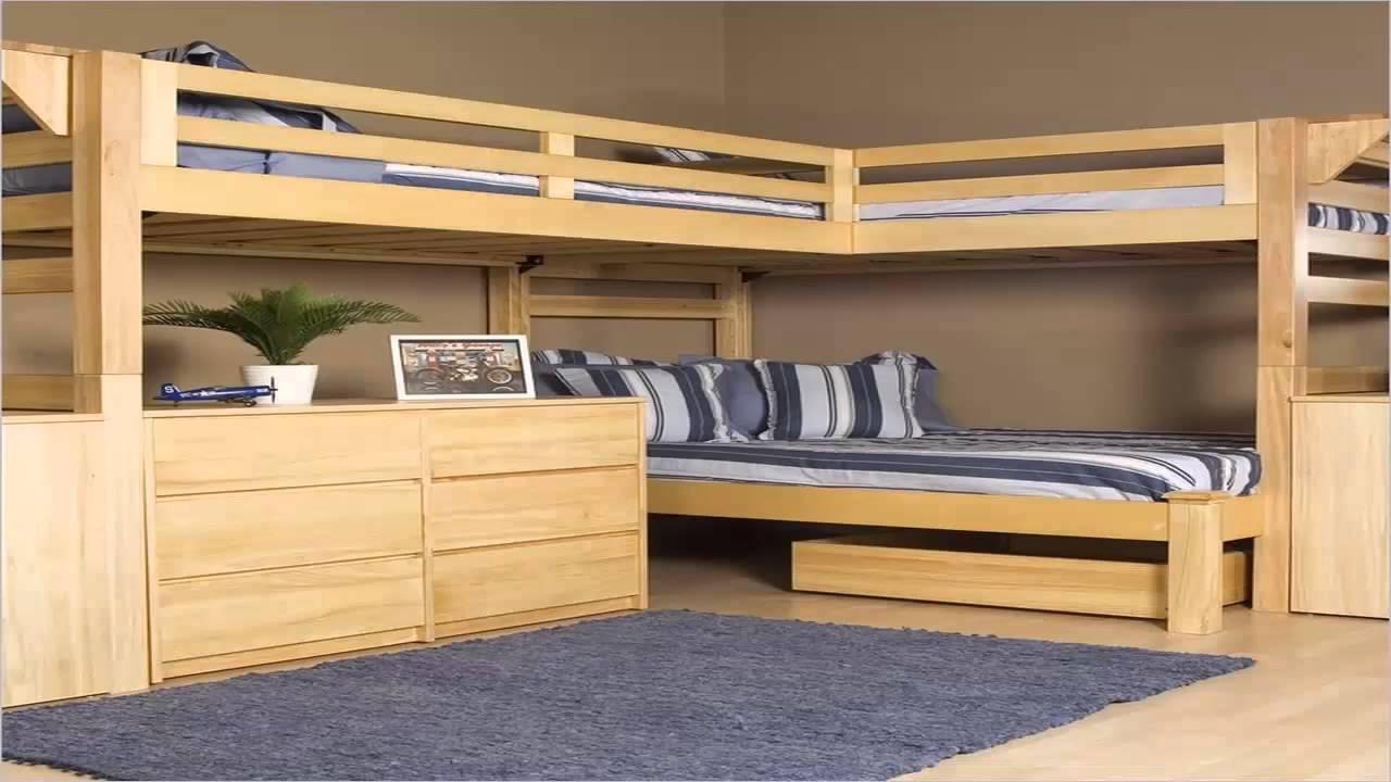 صورة غرف نوم اطفال 3 سراير , سرير ثلاثه طوابق لتوفير المساحات