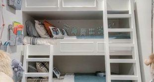 صور غرف نوم اطفال 3 سراير , سرير ثلاثه طوابق لتوفير المساحات