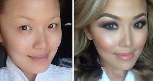 صورة النساء قبل وبعد المكياج , صور مختلفة قبل وبعد المكياج