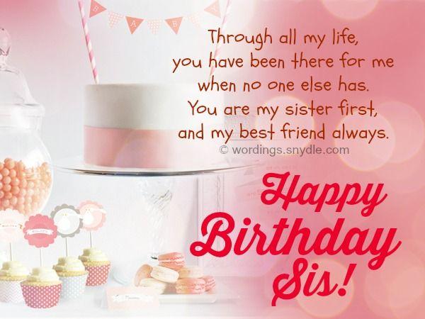 صورة تهنئة عيد ميلاد اختي بالانجليزي , اروع تهنئة لعيد الميلاد الاخت