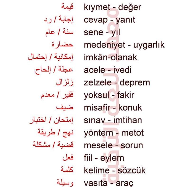 صورة اشهر الكلمات التركية , تعلم اللغة التركية بكل سهولة 2486 2