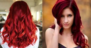 صورة صبغ الشعر باللون الاحمر الغامق , يهم كل سيدة وفتاه