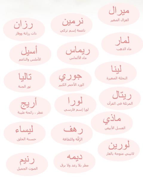 اسماء لها معنى معانى جميلة لاسماء ولاد وبنات مختلفة شوق وغزل