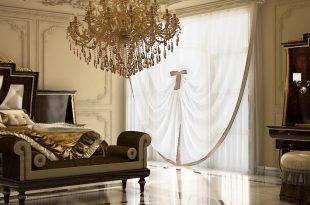صورة غرف نوم باللون البني والذهبي , اللونين الساحرين لاجدد غرف النوم