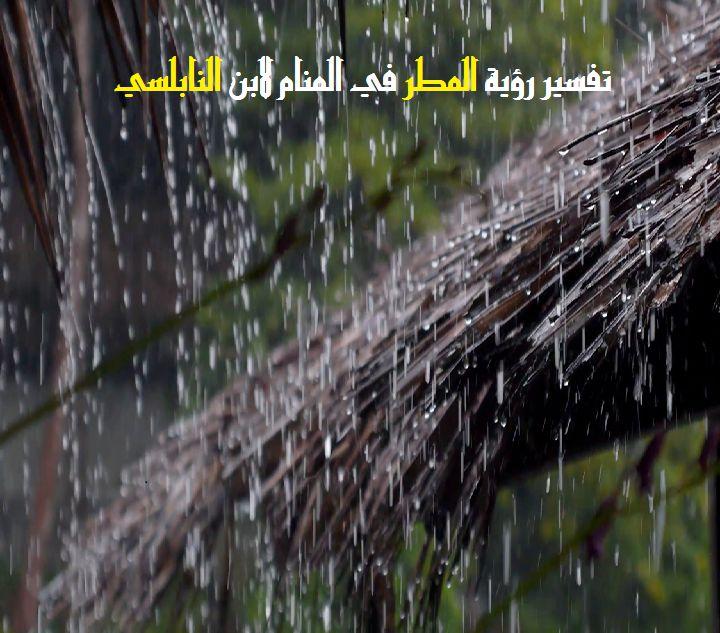 صورة تفسير رؤية المطر في الحلم , المطر وتفسيرة الجميل فى منامك