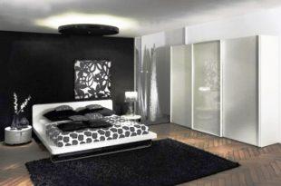 صورة غرف نوم مودرن ابيض واسود , المودرن الابيض والاسود فى غرف النوم