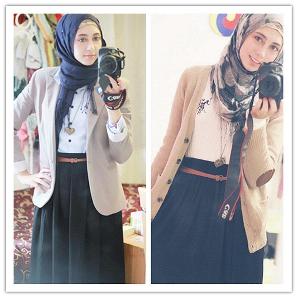 صورة ملابس للمحجبات المراهقات , مراهقات محجبات يحلون معادلة الموضه