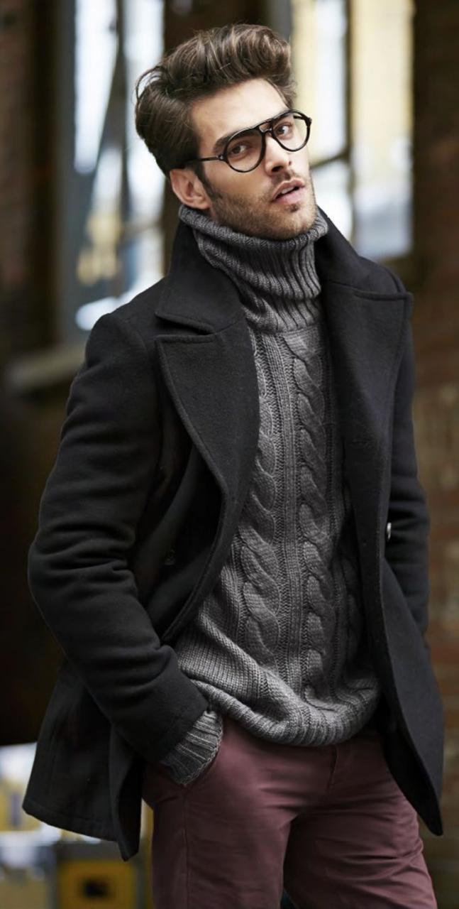 صورة ملابس رجاليه شتويه , الشتاء واشيك ملابس للرجال