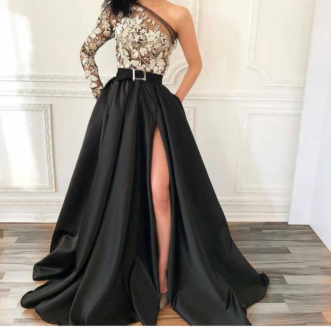 صورة فستان سهرة اسود , اروع فستان سهره باللون الاسود 5352 4