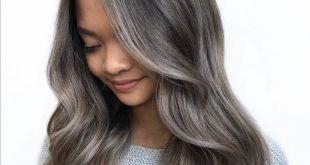 صورة لون شعر اشقر رمادي , اللون الرمادى وارق صبغات الشعر
