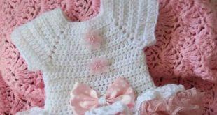 صورة كروشيه فستان اطفال , اشتغلى احلى فساتين لبنتك بالكروشيه
