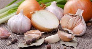 صورة فوائد البصل والثوم،دور الثوم و البصل في محاربه الامراض الخطيره