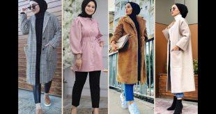 صورة ملابس شتوية للمحجبات تركية،معاطف شيك لشتاء دافئ