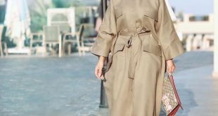 صورة ملابس حريمى خروج للمحجبات،موديل ملابس محجبات 2020