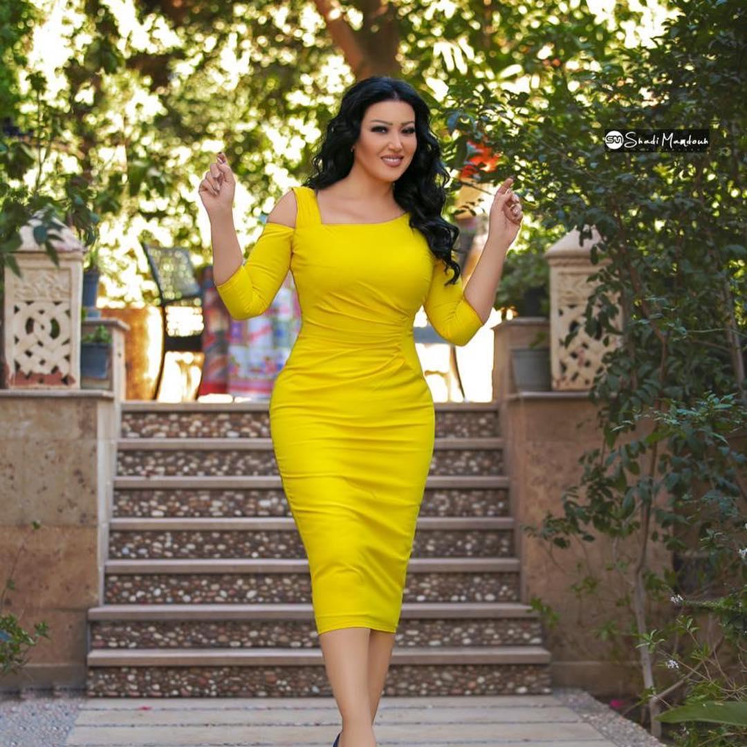 صورة فستان سميه الخشاب , سميه الخشاب واحدث فستان لها 5926 7