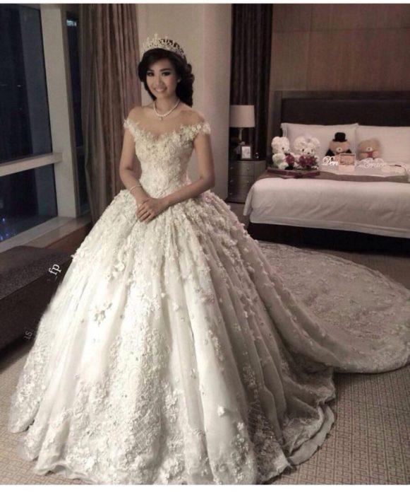 صورة فستان يهوووس من جماله , فستان فرح 2019 1421 7